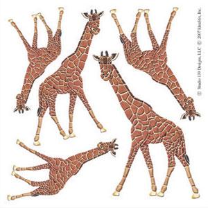 IdeaStix Giraffe Accents DesignStix - Original Premium Peel and Stick Décor