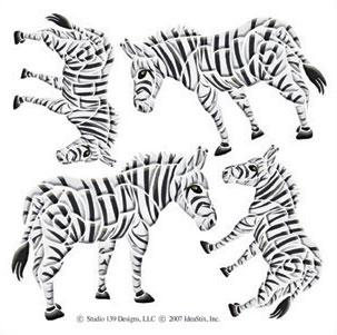 IdeaStix Zebra Accents DesignStix - Original Premium Peel and Stick Décor