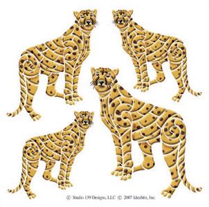 IdeaStix Cheetah Accents DesignStix - Original Premium Peel and Stick Décor