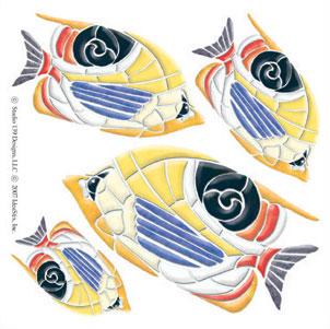 IdeaStix Angel Fish Accents DesignStix - Original Premium Peel and Stick Décor
