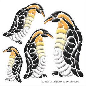 IdeaStix Penguin Accents DesignStix - Original Premium Peel and Stick Décor