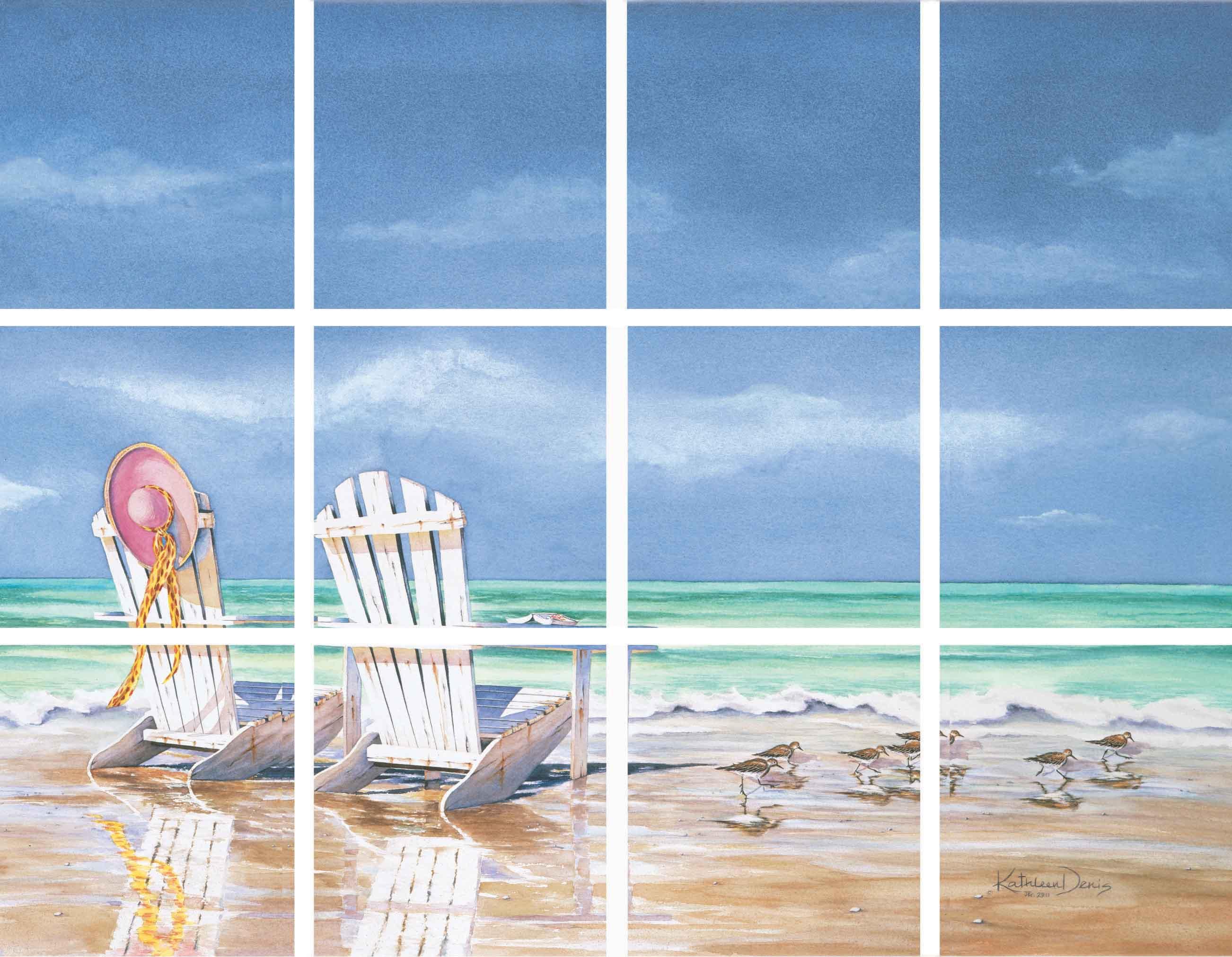 IdeaStix Calm before the Storm 12-Piece Tile Mural - Original Premium Peel and Stick Décor