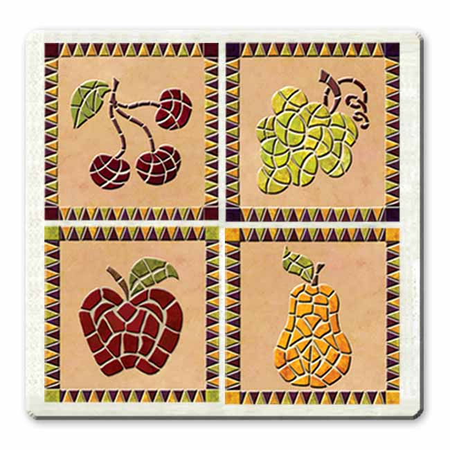 IdeaStix Harvest TileStix - Original Premium 4-Piece Peel and Stick Tile Décor