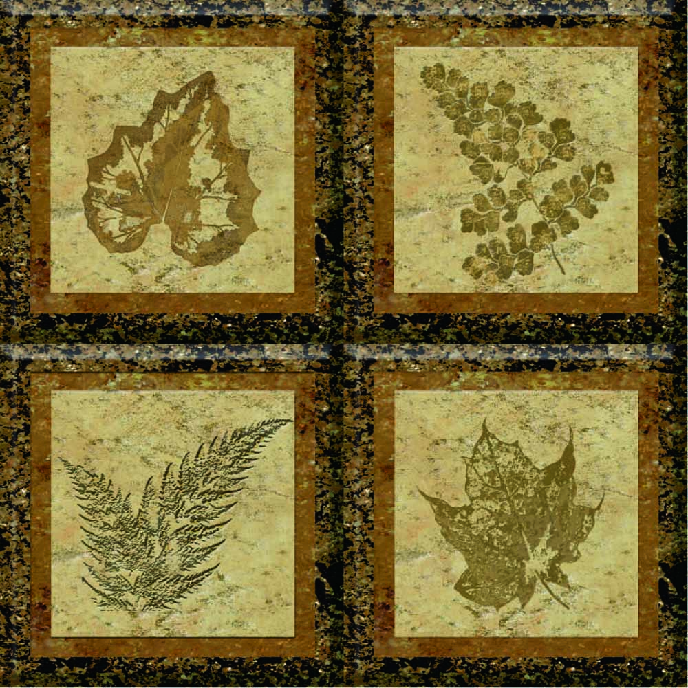 IdeaStix Fossil TileStix - Original Premium 4-Piece Peel and Stick Tile Décor