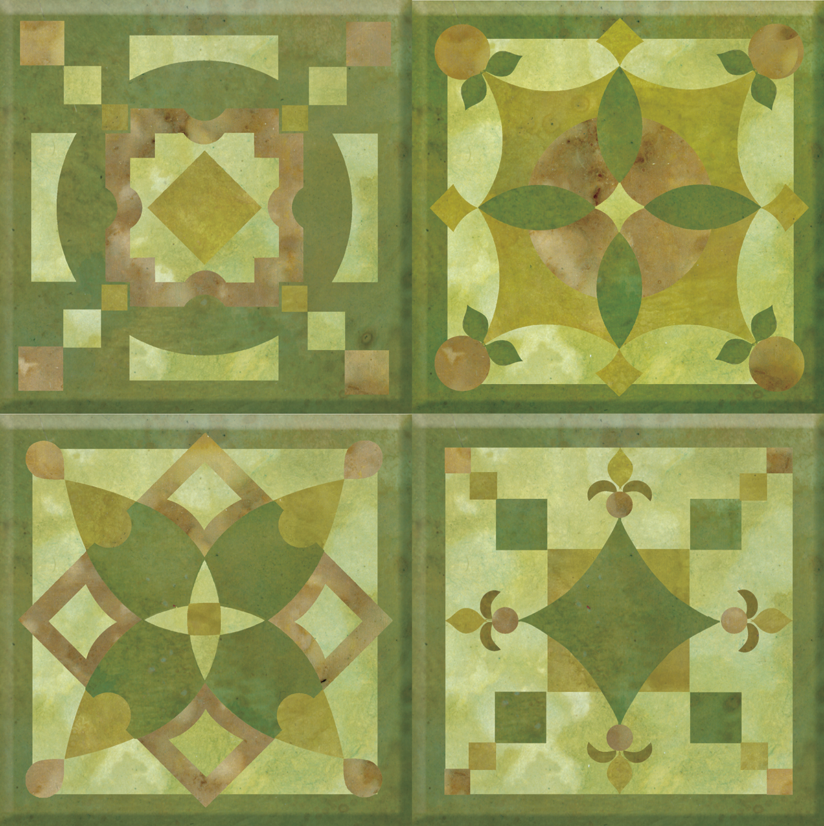 IdeaStix Knot Garden TileStix - Original Premium 4-Piece Peel and Stick Tile Décor