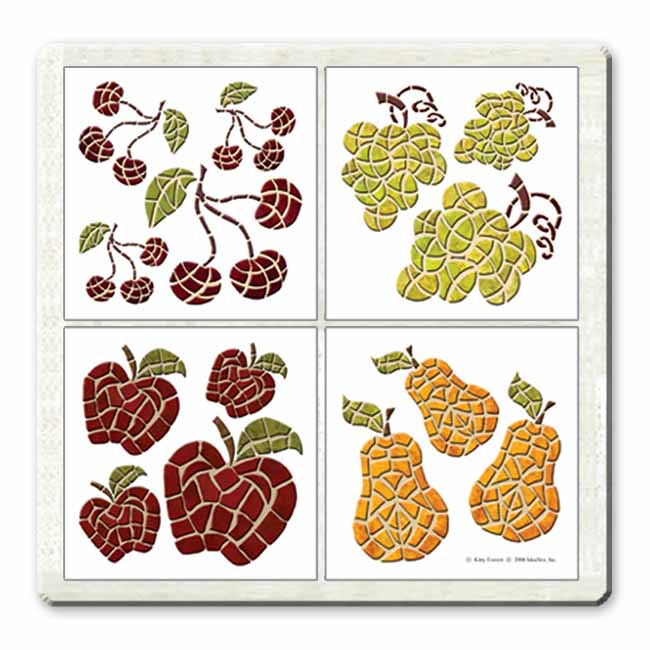 IdeaStix Harvest Accents TileStix - Original Premium 14-Piece Peel and Stick Tile Décor Accents - Washable - Removable - Heat and Water Resistant - Non-Toxic