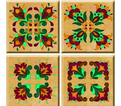 IdeaStix Renaissance TileStix - Original Premium 4-Piece Peel and Stick Tile Décor