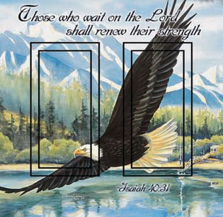 Isaiah 40:31 Double Rocker SwitchStix Peel and Stick Switch Plate Cover Décor
