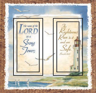 Proverbs 18:10 Double Rocker SwitchStix Peel and Stick Switch Plate Cover Décor