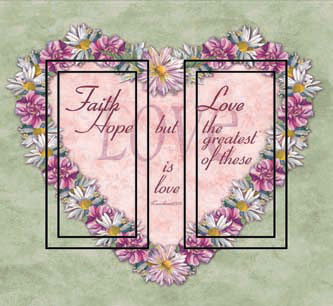 1 Corinthians 13:13 Double Rocker SwitchStix Peel and Stick Switch Plate Cover Décor