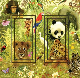 Vanishing Species Double Rocker SwitchStix Peel and Stick Switch Plate Cover Décor
