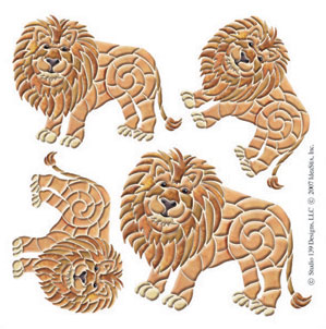 IdeaStix Lion Accents DesignStix - Original Premium Peel and Stick D??cor
