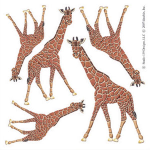 IdeaStix Giraffe Accents DesignStix - Original Premium Peel and Stick D??cor