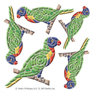 IdeaStix Lorikeet Accents DesignStix - Original Premium Peel and Stick D??cor