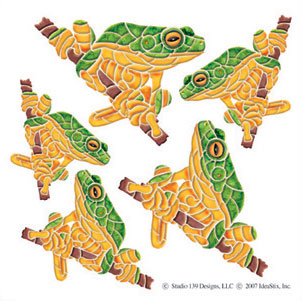 IdeaStix Tree Frog Accents DesignStix - Original Premium Peel and Stick D??cor