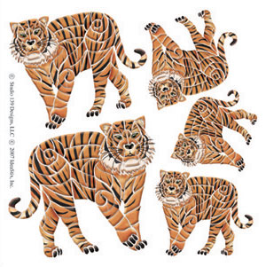 IdeaStix Tiger Accents DesignStix - Original Premium Peel and Stick D??cor