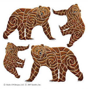 IdeaStix Brown Bear Accents DesignStix - Original Premium Peel and Stick D??cor