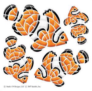 IdeaStix Clown Fish Accents DesignStix - Original Premium Peel and Stick D??cor