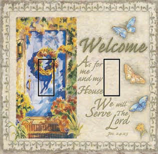 Joshua 24:15 Double Toggle SwitchStix Peel and Stick Switch Plate Cover Décor