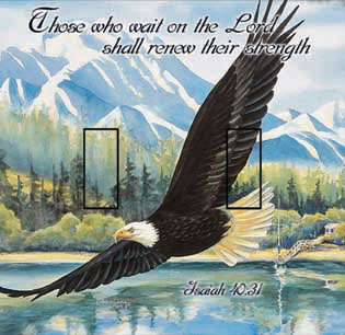 Isaiah 40:31 Double Toggle SwitchStix Peel and Stick Switch Plate Cover Décor