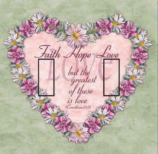 1 Corinthians 13:13 Double Toggle SwitchStix Peel and Stick Switch Plate Cover Décor