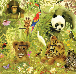 Vanishing Species Double Toggle SwitchStix Peel and Stick Switch Plate Cover Décor