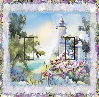 Majestic Light Double Toggle SwitchStix Peel and Stick Switch Plate Cover Décor