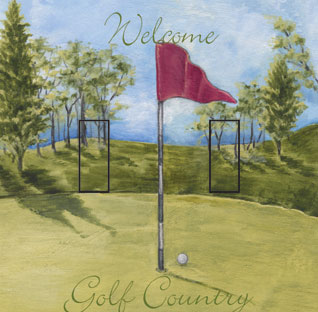Welcome to Golf Country Double Toggle SwitchStix Peel and Stick Switch Plate Cover Décor