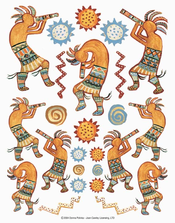 IdeaStix Kokopelli Dancers 2-Sheet Accents - Original Premium Peel and Stick D??cor