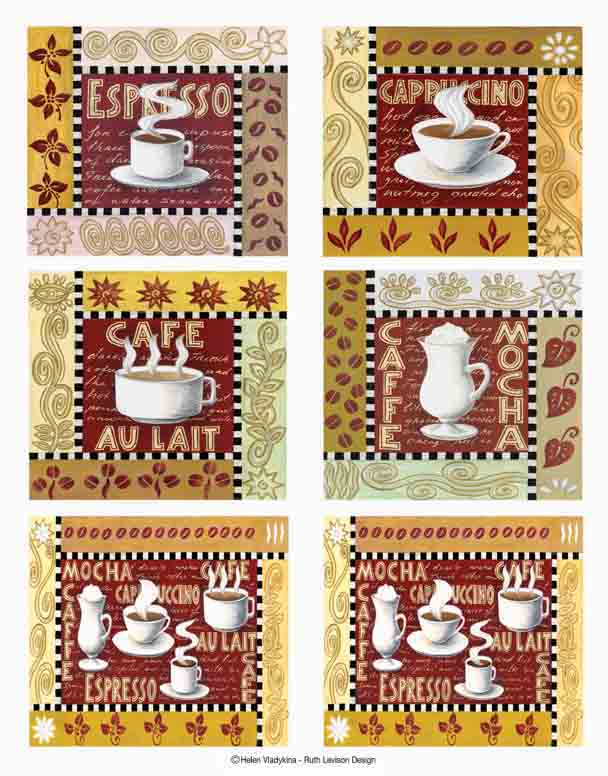 IdeaStix Coffee Time 2-Sheet Accents - Original Premium Peel and Stick D??cor