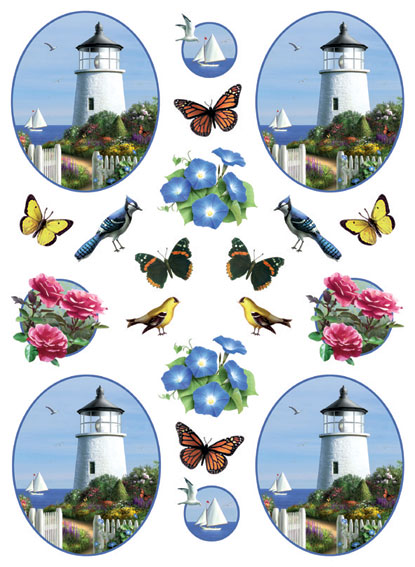 IdeaStix Soon the Light 2-Sheet Accents - Original Premium Peel and Stick D??cor