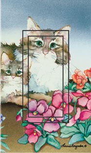 Flagstone Felines Single Rocker SwitchStix Peel and Stick Switch Plate Cover Décor