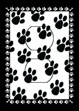 Paw Prints Single Duplex SwitchStix Peel and Stick Outlet Wall Plate Cover Décor