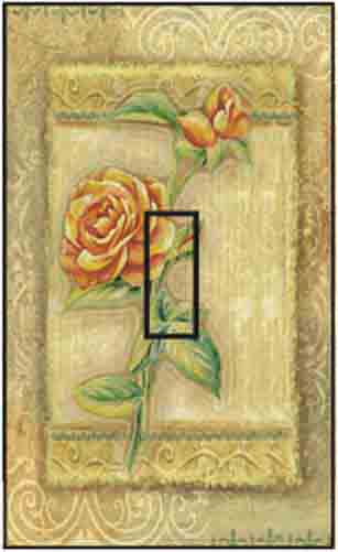 Rose Single Toggle SwitchStix Peel and Stick Switch Plate Cover Décor