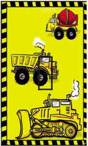 Construction Trucks Single Toggle SwitchStix Peel and Stick Switch Plate Cover Décor