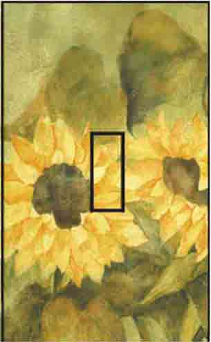 Sunflower S Single Toggle SwitchStix Peel and Stick Switch Plate Cover Décor
