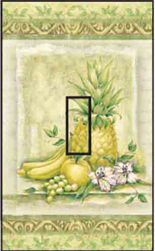 Pineapple Single Toggle SwitchStix Peel and Stick Switch Plate Cover Décor
