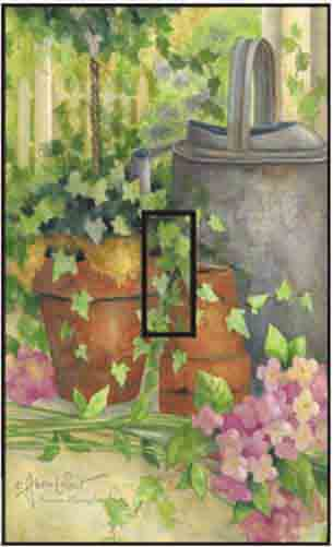 Summer Morning Single Toggle SwitchStix Peel and Stick Switch Plate Cover Décor