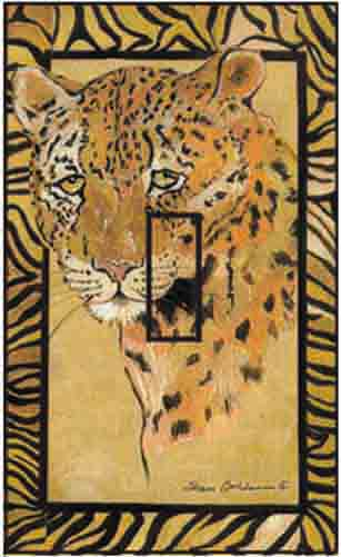 Leopard Single Toggle SwitchStix Peel and Stick Switch Plate Cover Décor