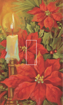 Poinsettia & Candle Single Toggle SwitchStix Peel and Stick Switch Plate Cover Décor