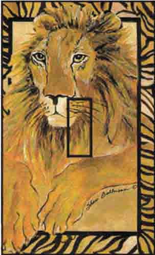 Lion Single Toggle SwitchStix Peel and Stick Switch Plate Cover Décor