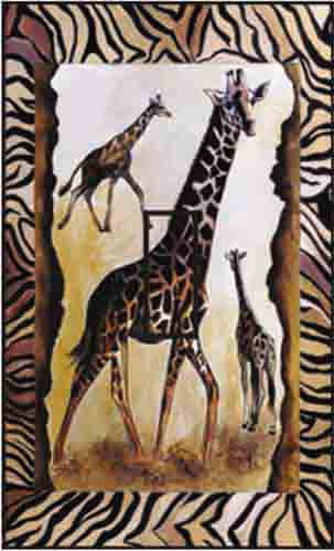 Giraffe Single Toggle SwitchStix Peel and Stick Switch Plate Cover Décor