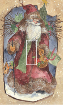Santa Single Toggle SwitchStix Peel and Stick Switch Plate Cover Décor