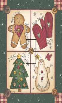 Christmas Sampler Fun 1B Single Toggle SwitchStix Peel and Stick Switch Plate Cover Décor
