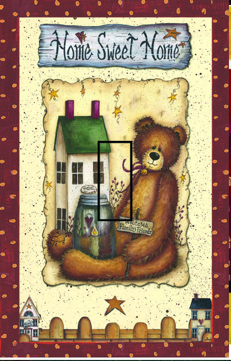 Ted E Bear 1B Single Toggle SwitchStix Peel and Stick Switch Plate Cover Décor