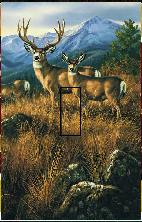 Deers Single Toggle SwitchStix Peel and Stick Switch Plate Cover Décor