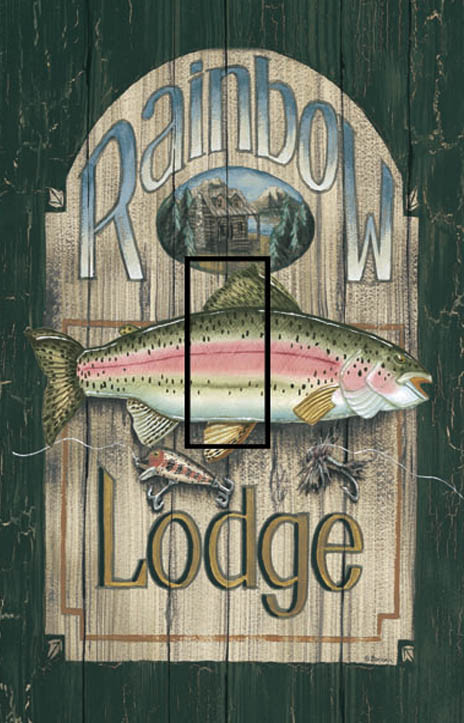 Rainbow Lodge Single Toggle SwitchStix Peel and Stick Switch Plate Cover Décor
