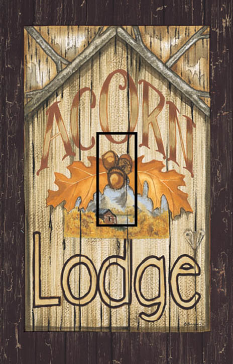 Acorn Lodge Single Toggle SwitchStix Peel and Stick Switch Plate Cover Décor