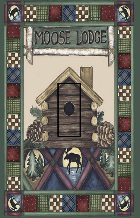 Moose Lodge Single Toggle SwitchStix Peel and Stick Switch Plate Cover Décor