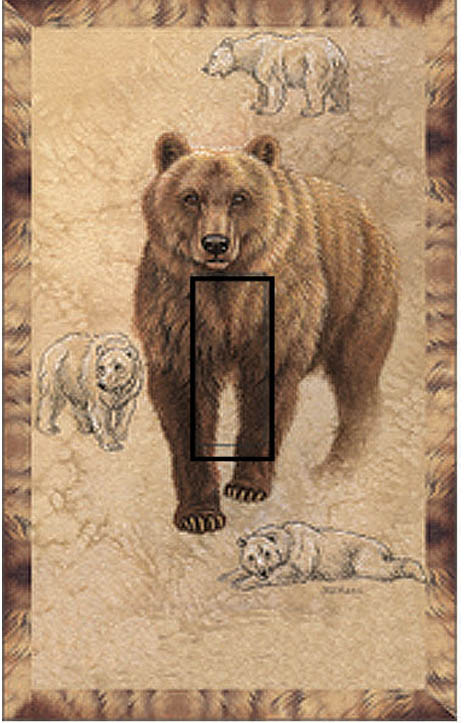 Brown Bear Single Toggle SwitchStix Peel and Stick Switch Plate Cover Décor